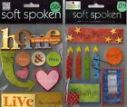 SOFT SPOKEN Assorted STICKERS 3D Choice MAMBI Me  My Big Ideas SCRAPBOOKING