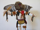 VINTAGE WESTERN AMERICANA SIGNED WOODEN NATIVE OWL DOLL