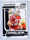 WES WELKER 2011 SCORE END ZONE COMPLETE PLAYERS #20 SP 6