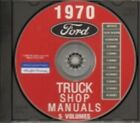 FORD 1970 Bronco Bus Van F100 F350 Pick Up  Heavy Duty Truck Shop Manual CD