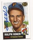 2001 Topps Archive #243 RALPH KINER Autographed card Pittsburgh Pirates