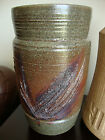 MID-CENTURY MODERN CANADIAN STUDIO ART POTTERY VASE SIGNED S R