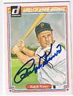 RALPH KINER 1983 HALL OF FAME HEROES # 38 AUTOGRAPHED CARD !!
