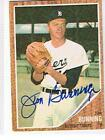 JIM BUNNING 1962 TOPPS # 460 AUTOGRAPHED CARD HOF