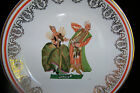 POLISH DECORATIVE ROUND CHINA PLATE WITH HOLE TO HANG AND TWO DANCERS