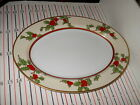 FITZ & FLOYD CHRISTMAS HOLLY PLATTER 14 1/2