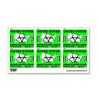 Zombie Hunting License Permit Green Set of 6 Response Team Stickers