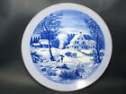 CURRIER & IVES - The Homestead in Winter - COLLECTORS PLATE - 45D