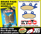 REPLICA FRONT DISC BRAKE PADS TO SUIT AJS Regal Raptor DD 250 DD250 E (04-09)