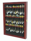 36 Spoon Display Case Rack Holder Wall Shadow Box Cabinet, glass door SP01L-CHE