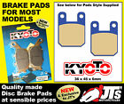COMPLETE FRONT & REAR SET DISC BRAKE PADS SCORPA TY-S 125 F Enduro (03-05)