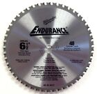 Milwaukee 48-40-4015 6-1/2 in. Circular Saw Blade 48 Carbide Teeth Cuts ferrous