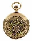 Elgin 14k Multi Colored Gold and Diamond Ladies Pocket Watch