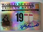 2003 TOPPS TRIBUTE WORLD SERIES RELIC MIKE SCHMIDT AUTO GAME JERSEY !! BOX # 31