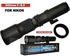 ROKINON 500mm f/8.0 Telephoto Lens and T-Mount FOR NIKON D5100 D7000