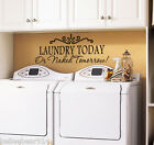 LAUNDRY TODAY OR NAKED TOMORROW Laundry Room Wall Art Decal Sticker Saying Quote