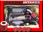 BLACK RED NEW 90 93 GEO STORM ISUZU IMPULSE 16 16L 18 18L I4 AIR INTAKE KIT