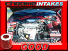 RED 90 91 92 93 94 97 TOYOTA COROLLA GEO PRIZM 16 16L 18 18L AIR INTAKE KIT
