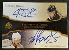 07-08 SP AUTHENTIC SPA SIGN OF THE TIMES EVGENI MALKIN ALEX RADULOV DUAL AUTO