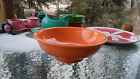 CENTER PIECE PEDESTAL BOWL tangerine orange FIESTA 64 OZ NEW