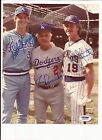 Dale Murphy & Robin Yount & Tommy Lasorda autograph 8x10 photo psa dna