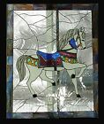 Carousel Horse 1 Stained Glass Window Panel EBSQ Artist