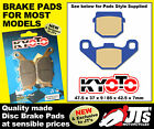 REAR SET OF DISC PADS BRAKE PADS TO SUIT ADLY NB 125 NB125 Noble 125 (08-09)