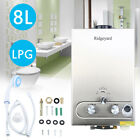 8L Propane Gas Lpg 2GPM Instant Hot Water Heater Tankless Boiler w Shower Xmas