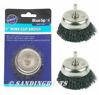 PACK OF 3  ROTARY WIRE 75mm CUP BRUSH STEEL