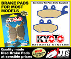 REAR SET OF DISC BRAKE PADS TO SUIT PIAGGIO Xevo 400 ie (07-10) (front R/H only)