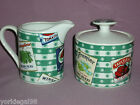 Fitz & Floyd Country Cupboard Pattern Sugar and Creamer Set Never Used