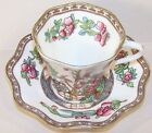 Vintage Cup & Saucer England Coalport Marked AD 1750 Asian Theme Peony Tree