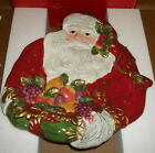 Fitz and Floyd Renaissance Santa Canape Plate 19/1850