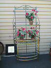 51989 Brass and Metal Bakers Rack Shelf  Display Cabinet