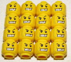 LEGO LOT OF 16 MINIFIGURE PIRATE HEADS WITH GOLD TOOTH LARGE SMILE WHITE TEETH