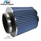 BLUE KN TPYE AIR FILTER INTAKE UNIVERSAL FOR MOST CAR 375 PERFORMANCE INLET