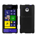 HTC 8XT Case Black Rubberized coated Snap On Hard Cover Sprint