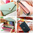Fashion Multi propose envelope Purse Wallet For Galaxy S2,S3,iphone4,4S 7colors