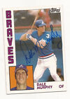 1984 Topps # 150 DALE MURPHY Autographed Signed card Atlanta Braves