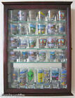 36 Shot Glass or 21 Shooter Display Case Cabinet with door Solid WoodSCD06B CH