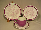 Alfred Meakin Samoa Purple Place Setting (Salad, Bread Plate, Cup and Saucer)