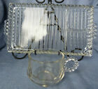 Vintage Boopie Glass Bridge Snack Plate set Sip n Smoke Tray & Cup