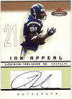 LADAINIAN TOMLINSON AUTOGRAPH 2003 FLEER MYSTIQUE INK APPEAL CHARGERS AUTO 75