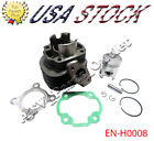 Complete 50cc Cylinder Rebuild Kit with Piston Pin for Yamaha 1E40QMB Engine