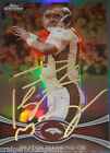 Peyton Manning Signed 2012 Topps Chrome GOLD AUTO STEINER PSA DNA 1 1 MINT 9