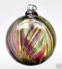 Kitras FEATHER BALL WINTER CARNIVAL Hand Blown Art Glass Ornament 35