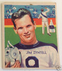 1935 National Chicle JIM ZYNTELL #8 football card Philadelphia Eagles