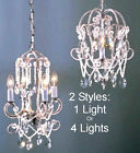 Small Mini Crystal Pendant Light Swag Lamp Chandelier Hanging Ceiling Fixture 9
