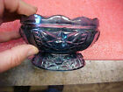 FT2 Heavy Blue glass candy serving table dish 3