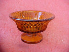FT2 vintage amber glass dish heavy duty no lid 4.5